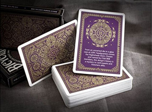 Bicycle Nightshade Playing Card Decks Collectable