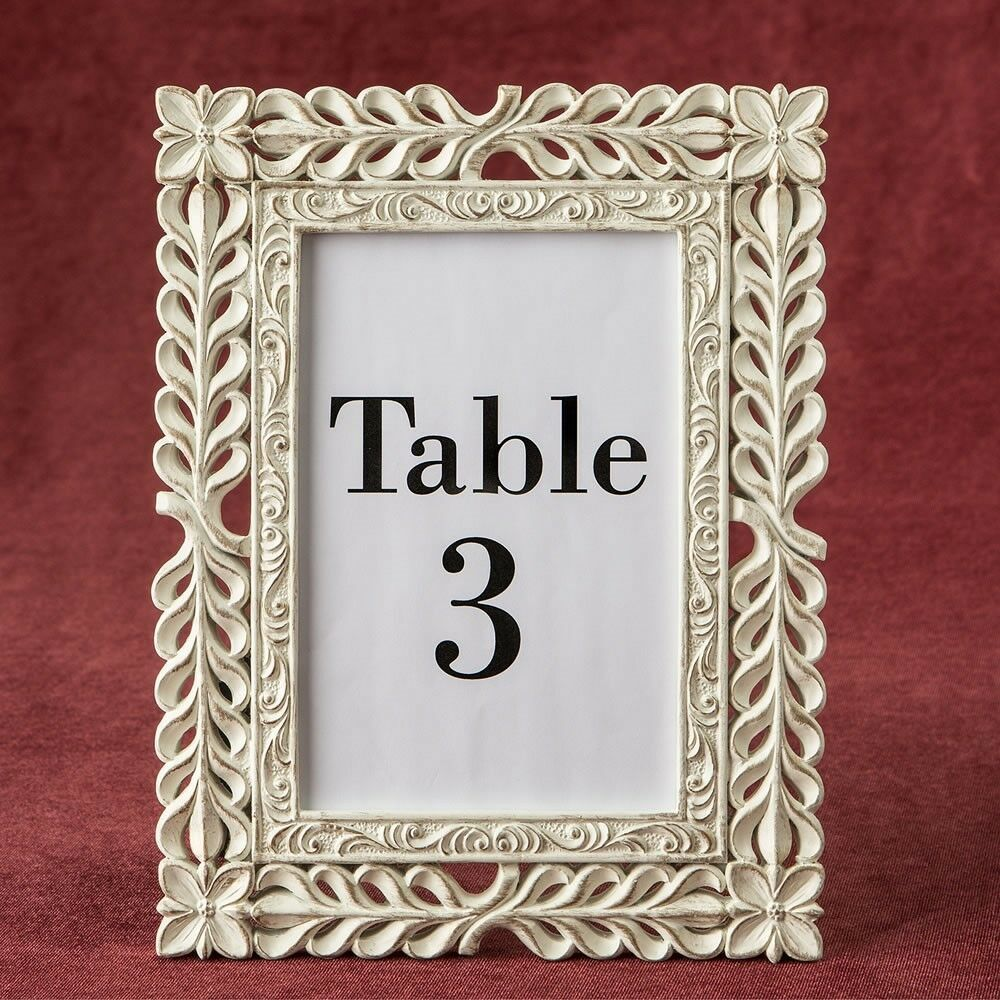 12 Lattice Ivory & Rose or Photo Or Table Number Frame Wedding Party Favors