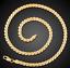 18k-Goldkette-Koenigskette-vergoldet-50cm-4MM-Damen-fuer-Herren-Maenner-Halskette Indexbild 3