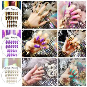Nagelkunst-Patch-Stiletto-Fake-Nails-Falsche-Naegel-Fingernaegel-Erweiterungen
