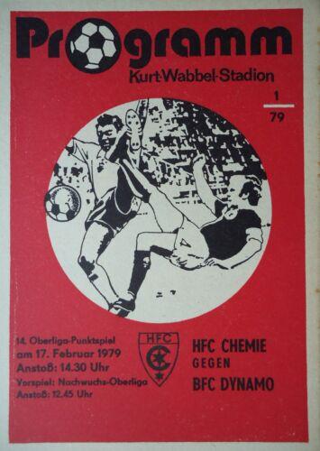 Programm 1978//79 HFC Chemie BFC Dynamo