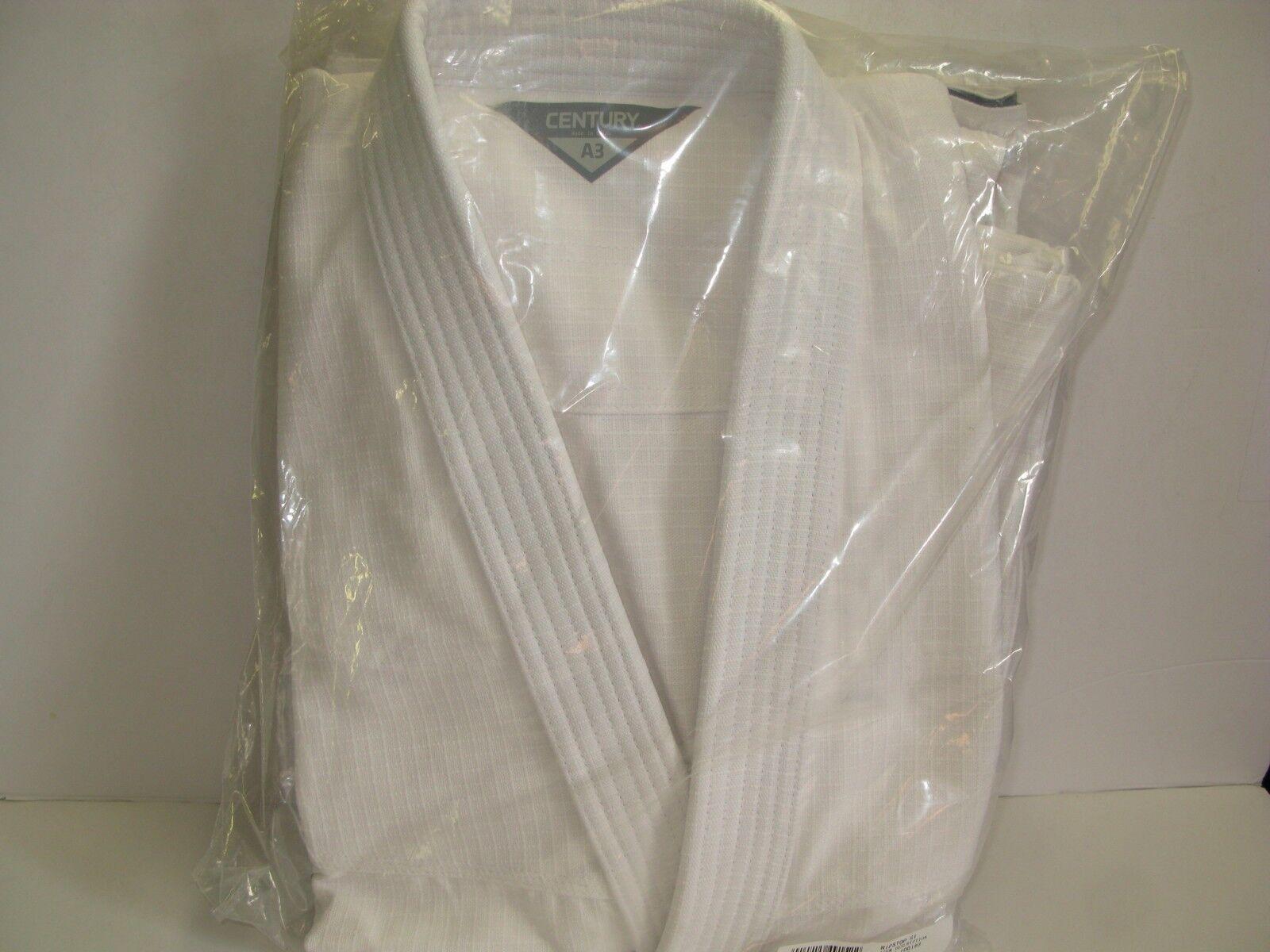 New Century Adult RIPSTOP Brazilian Jiu-Jitsu Gi Uniform White A13