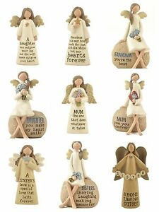Angel-Decoration-Ornament-Mum-Sister-Daughter-Grandma-Friend-Gift-Mother-039-s-Day