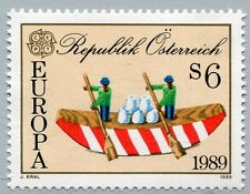 Österreich Austria 1956 CEPT: Kinderspiele Boot mit Ruderern, Salzstöcke 1989 **