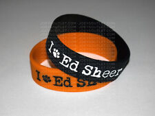 2 I Heart Ed Sheeran Bracelet Wristband WIDE
