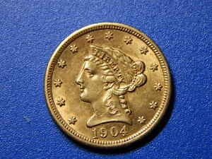 1904-2-1-2-Gold-Liberty-Quarter-Eagle-AU-RC1733