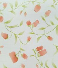 """9ft Rose Pink TULIPS contact wall paper Shelf liner peel & stick 9ft x 18"""""""