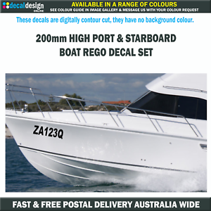 Boat-Rego-Decal-Set-includes-Port-amp-Starboard-Registration-Stickers-200mm-High