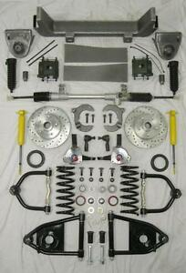 1953-1956-Ford-F100-Mustang-II-Manual-Front-End-Suspension-Kit-IFS-Stock-Slotted