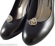 Bridal Wedding Prom Silver Knots Design Shoe Clips Ladies Dress Formal Wear