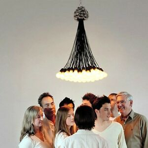 85 lamp chandelier designed by rody graumans 1993 droog design ebay image is loading 85 lamp chandelier designed by rody graumans 1993 aloadofball Choice Image