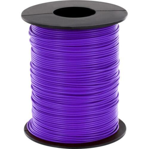 100 metros galon morado//púrpura 0,14mm² kupferschaltlitze lify cable en bobina
