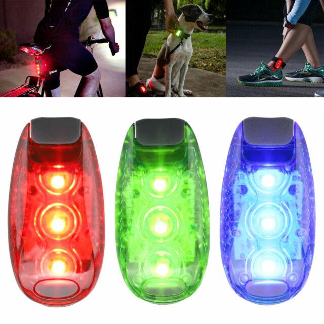 For Cycling Jogging Dog LED Safety Lights 3 Modes Clip on Strobe Running Lights