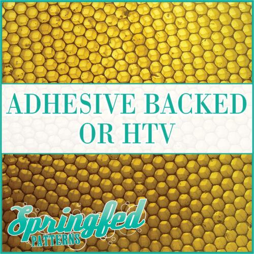 Patrón de panal de abeja #1 Adhesivo Vinilo o regional para manualidades o camisas Abejas Panal De Miel