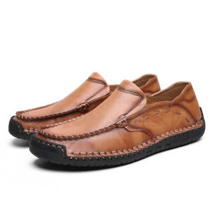 Menico-Men-039-s-Cowhide-Leather-Slip-on-Loafers-Casual-Soft-Driving-Shoes-Large