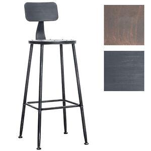 meilleur site web c8856 1bdaf Détails sur Tabouret de bar SOHO en métal design industriel avec dossier et  repose-pied