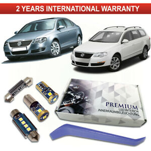 VW-Passat-B6-Bombillas-Led-Interior-Kit-Premium-Blanco-Libre-De-Error-3C-3B6-3C5-3C2