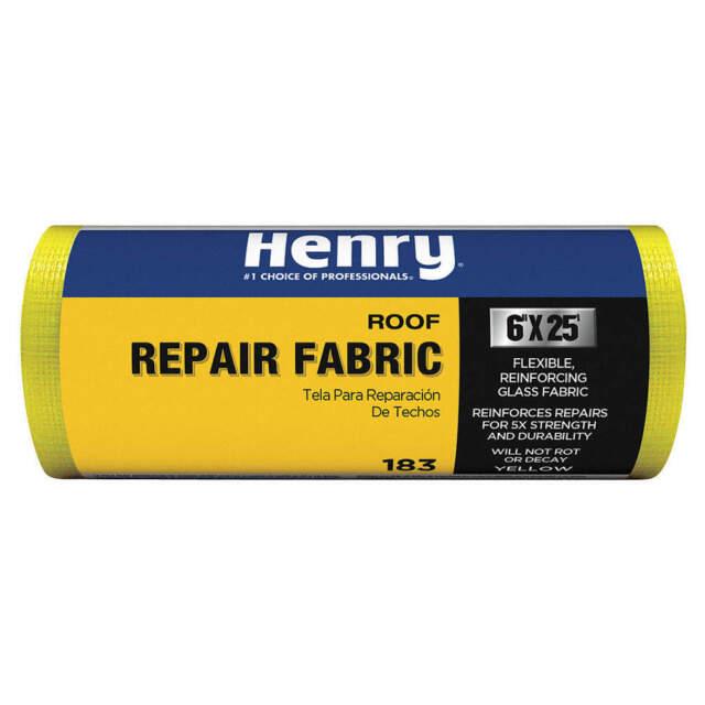 "HENRY HE183196 Roof Repair Fabric, 6""x25' Roll, Yellow"