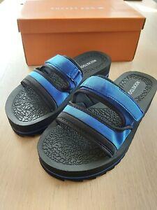 ROCKET-DOG-Women-Manto-Neo-UK-7-40-Blue-Black-slider-sandals-BNIB-RRP-35