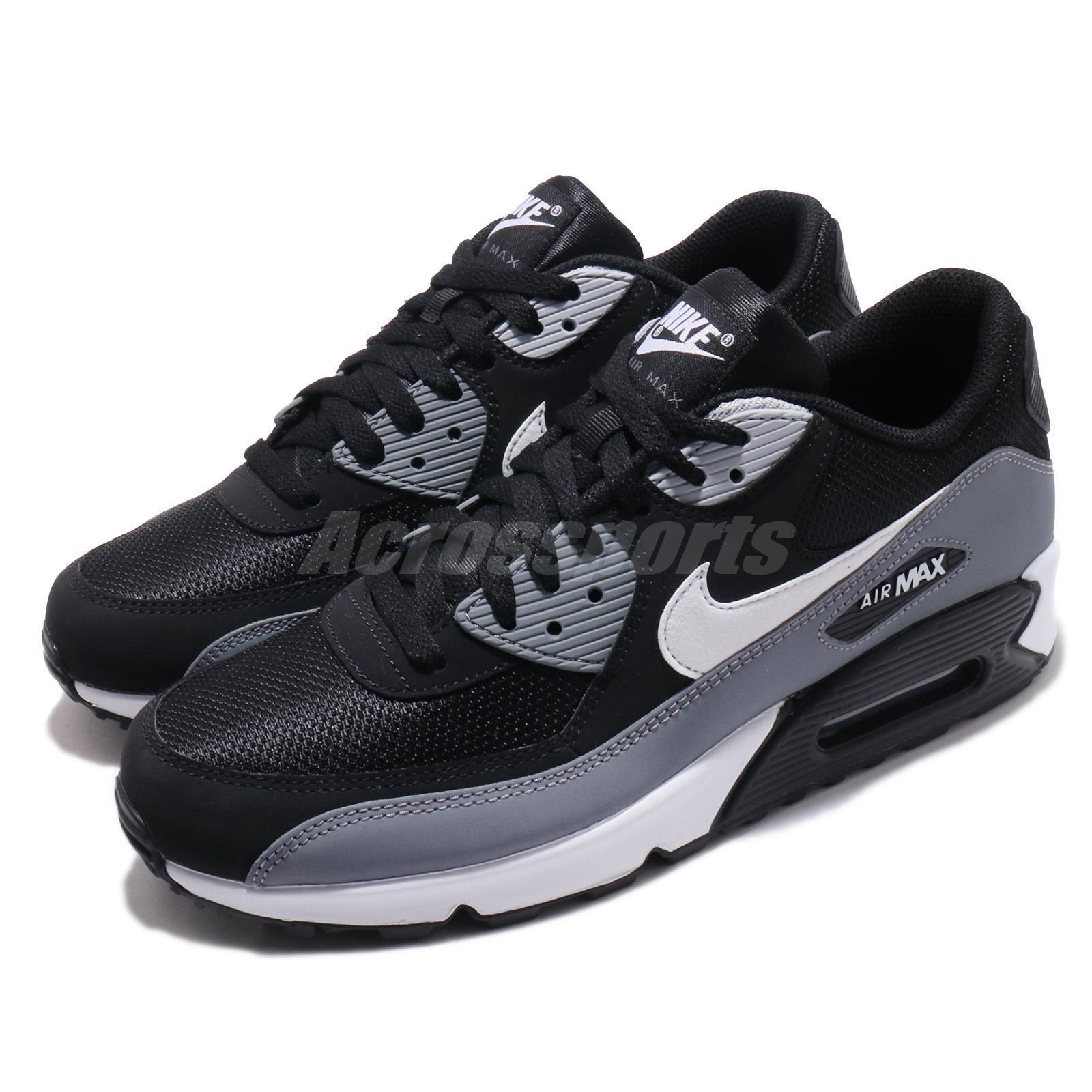 Nike Air Max 90 Essential Black White Grey Men Running shoes Sneakers AJ1285-018