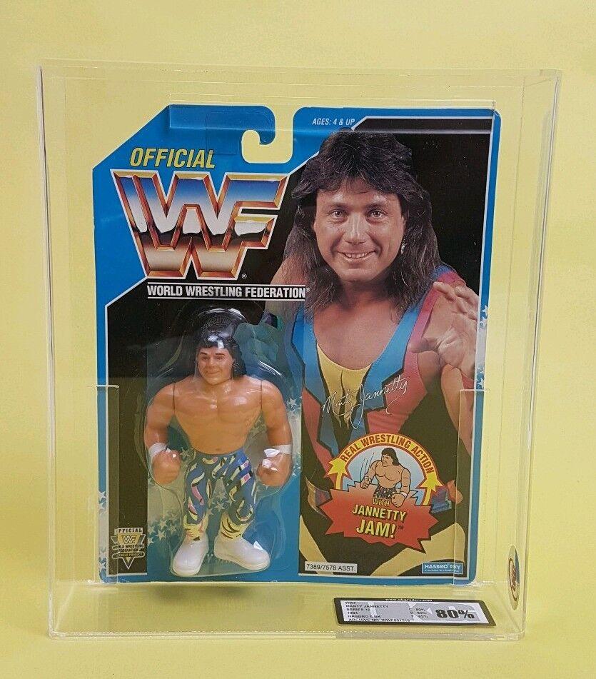 Vintage   MARTY JANNETTY UKG GRADED 80% WWF HASBRO Figure   MOC WWE Original 90s