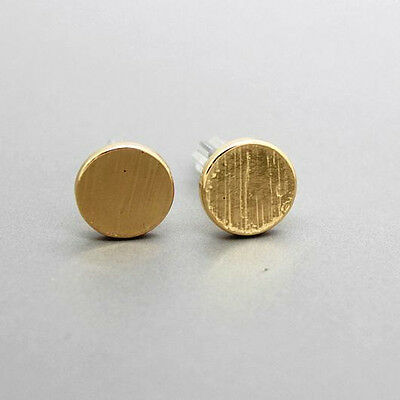 1 Pair Chic Simple Style Matte Round Women Stud Club Earrings 3 Color To Choose