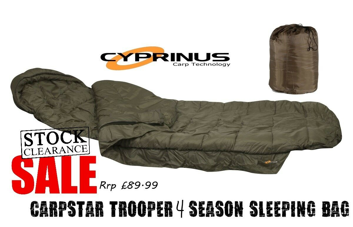 Cyprinus 4 Season Super Warm Carp Fishing Camping Sleeping Bag RRP