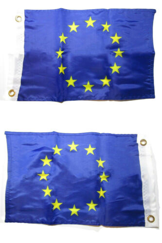 12x18 European Union 2 Faced 2-ply Nylon Wind Resistant Flag 12x18 Inch