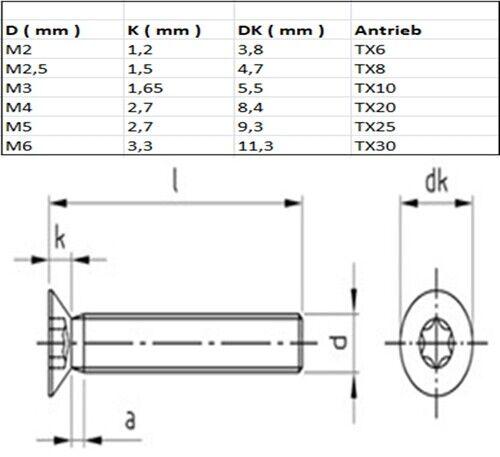 50 St/ück M2,5 x 16 mm Zylinderschrauben DIN 912 Edelstahl A2 VA V2A Innensechskant Zylinderkopf
