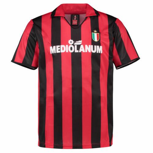 Ac Milan 1988 Home Jersey de Futebol Camisa Retrô Tee Top Masculino