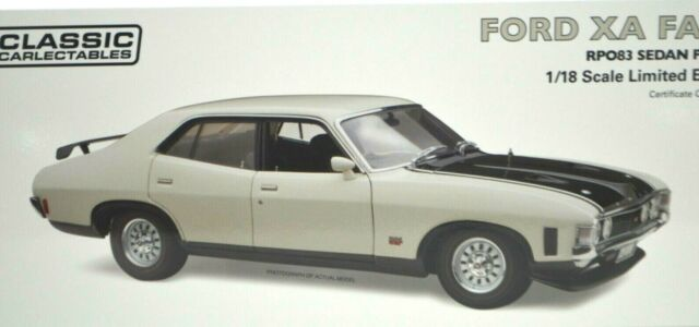 1:18 Scale Ford XA Falcon RPO83 Sedan Polar White CC Diecast Model Car