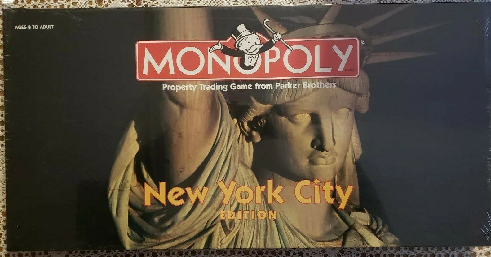 New york city edition monopol brettspiel usaopoly ny usa 1998 selten