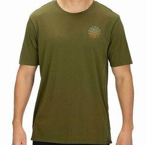 Hurley-Mens-T-Shirt-Legion-Green-Size-XL-Web-Logo-Benzo-Graphic-Tee-Crewneck-103