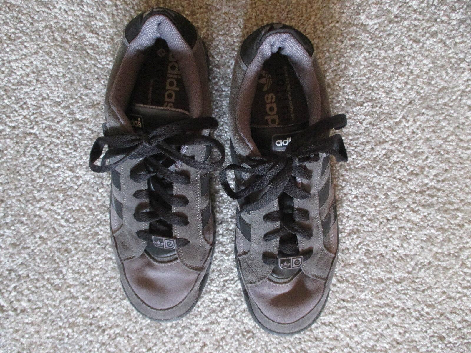 Herren Halbschuhe grau/schwarz Gr. 10 1/2  Adidas