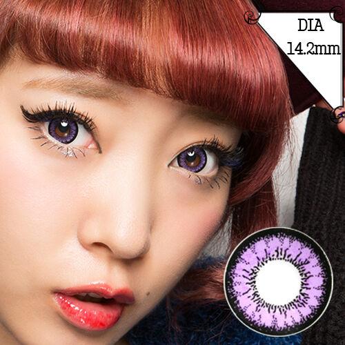 Lentilles de Contact Violet Color Contact Circle Lenses Dia14,2mm AcV A3