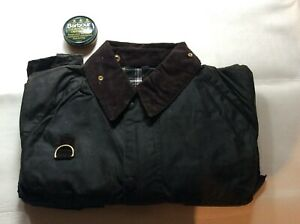 Barbour-waxed-cotton-A130-Spey-Jacket-Large