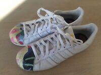 sko Superstar Blå Adidas II prikker Kvinder røde adidas Hvid