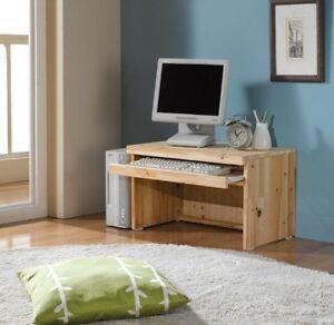 Image Is Loading Japanese Cedar Floor Computer Desk Wooden PC Table