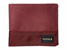Nixon Origami Bi-Fold Zip Wallet (Burgundy)