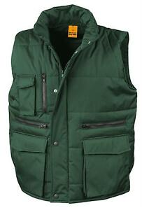Result-BOTTLE-FOREST-DARK-GREEN-Workguard-Padded-Gilet-Vest-Bodywarmer-S-3XL