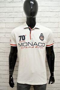Polo-MC-GREGOR-Uomo-Taglia-Size-M-Maglietta-Camicia-Shirt-Man-Cotone-Bianco-Slim
