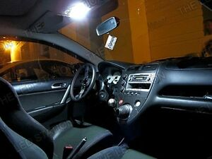 Honda Civic Ep3 Led Xenon White Interior Lights Bulbs Kit