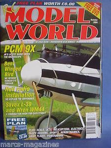 RCMW-RC-MODEL-WORLD-OCTOBER-2004-RUPERT-PLANS-PCM-9X-ALBATROS-D5-WREN-WM44