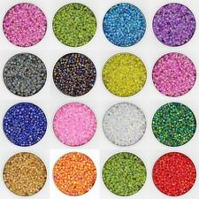 MIX COLOR 500Pcs 4mm Round Colorful Glass Seed Beads DIY Jewelry Making