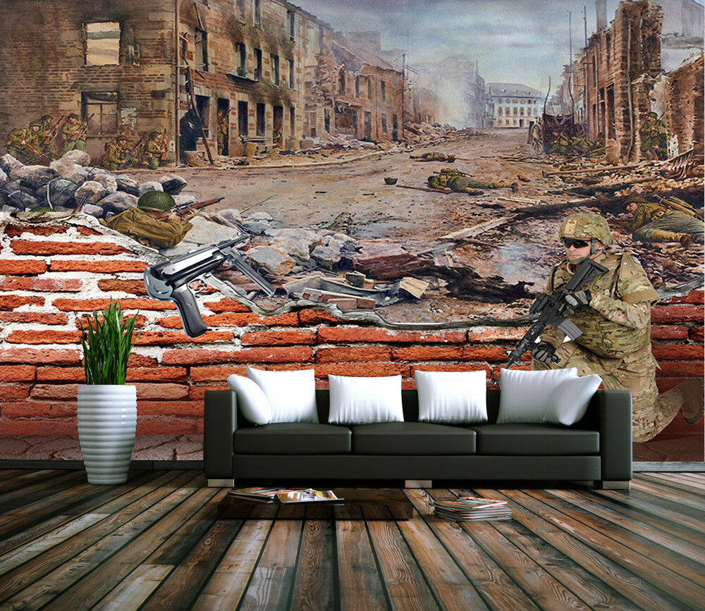 3D War Years 75 Wall Paper Murals Wall Print Wall Wallpaper Mural AU Summer