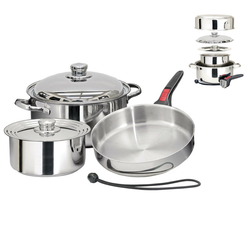 Magma Nestable 7 Piece Induction Cookware model A10-362-IND