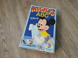 Mickey-mouse-abc-Disney-Schmidt-juegos-juego-de-mesa-es-pan-comido-vintage-retro-culto