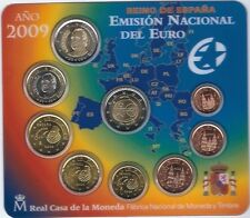 Spain 2009 coin set BU 2 euro EMU / Spanien KMS España Cartera Espagne UEM