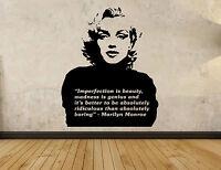 Marilyn Monroe Decal Wall Sticker 72cm X 58cm