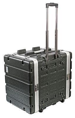 "Pulse 7U 19"" ABS Flight Rack Mount Equipment Case Trolley with Handle & Wheels"
